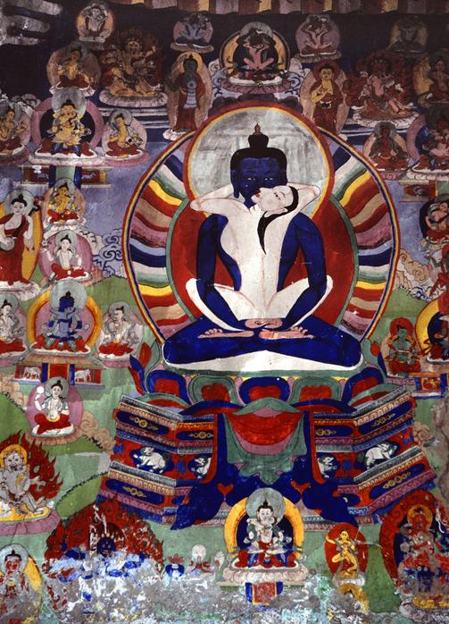 Фреска из разрушенного храма. Непал, Гималаи
